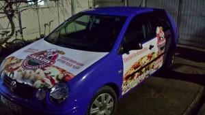 Masina infoliata pizzerie