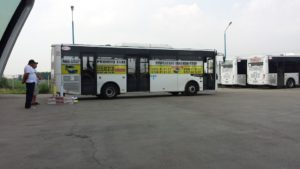 Autobuz inscriptionat Promto Taxi