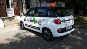 flower power masina scoala auto